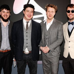 Mumford & Sons at Grammys Awards in Los Angeles.
