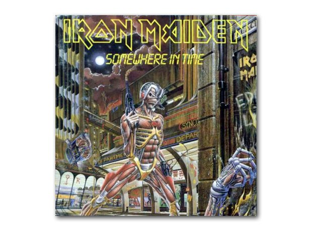 Iron Maiden - Somewhere In Time album cover