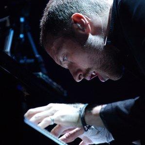 Chris Martin Coldplay at the piano
