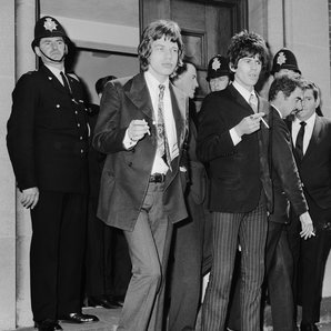 The Rolling Stones arrested 1967