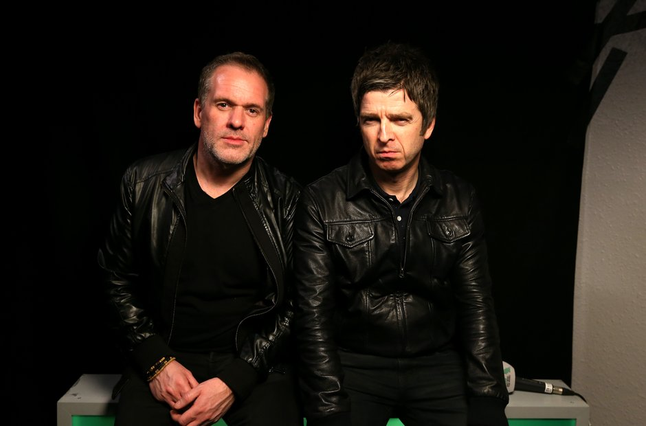 Chris Moyles and Noel Gallagher