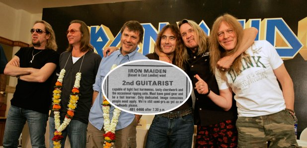 Iron Maiden with Melody Maker advert 1979
