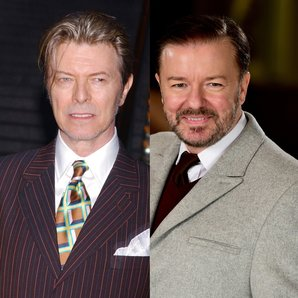 David Bowie and Ricky Gervais