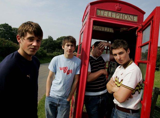 The Arctic Monkeys Jamie Cook, Alex Turner, Andy N