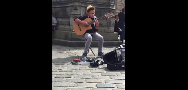 14-year-old Busker Covers Queen's Bohemian Rhapsod