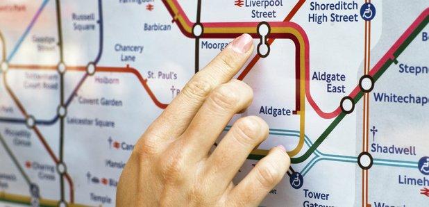London Underground Map stock image