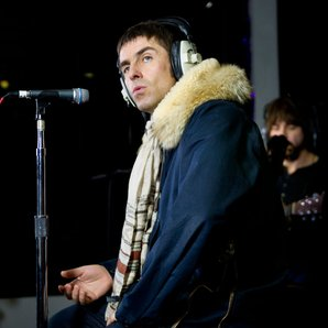 Liam Gallagher recording image in 2013