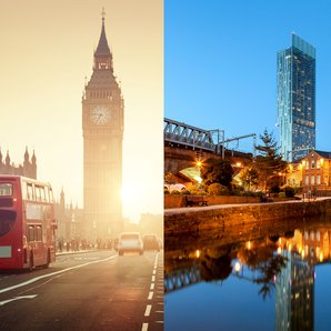 London and Manchester montage