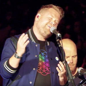 James Corden at Coldplay's LA gig