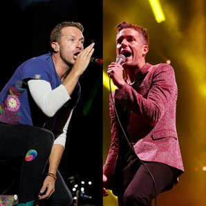 Coldplay's Chris Martin and The Killers Brandon Fl
