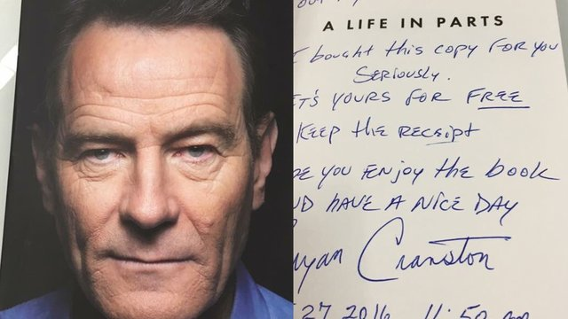 When Bryan Cranston Left A Note In His Book At Heathrow