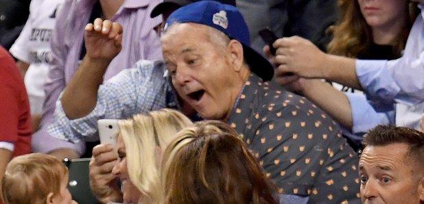 Bill Murray at The World Series 2016