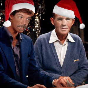 Dom and Chris as David Bowie and Bing Crosby