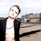 Pete Doherty on seafront background
