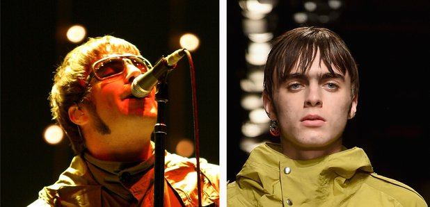 Liam Gallagher and son Lennon catwalk wearing para