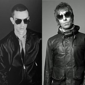 Liam Gallagher and Richard Ashcroft splitscreen