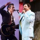 Arctic Monkeys Alex Turner and Tom Jones