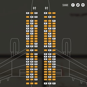 Foo Fighters Obelisk Airlines website seat