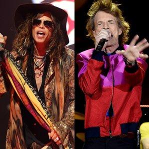 Steven Tyler and Mick Jagger