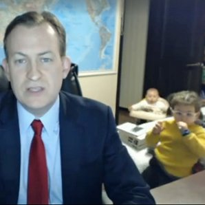 News Guest Interrupted By Kids