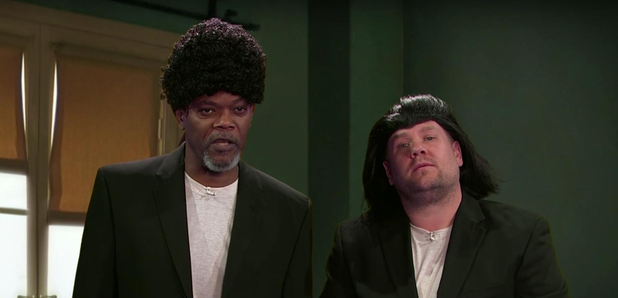 Samuel L. Jackson and James Corden act out scenes