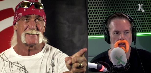 Chris Moyles and Hulk Hogan moustache