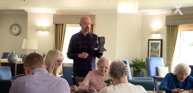 Dom visits Ferrars Hall Care Home for Chris Moyles