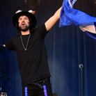 Serge Kasabian performing at Leicester City FC Par