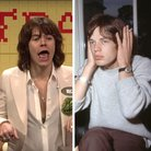 Harry Styles and Mick Jagger splitscreen