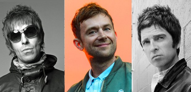 Liam Gallagher Damon Albarn Noel Gallagher