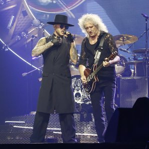 Adam Lambert and Brian May in 2016