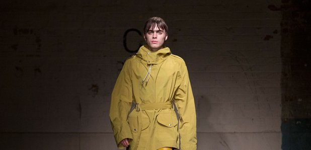 Lennon Gallagher on the catwalk for Topman