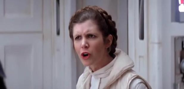 Princess Leia in Star Wars Mash Up All Stars Video