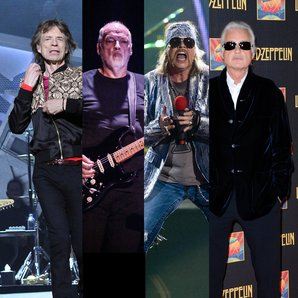 Mick Jagger, David Gilmour, Axl Rose, Jimmy Page