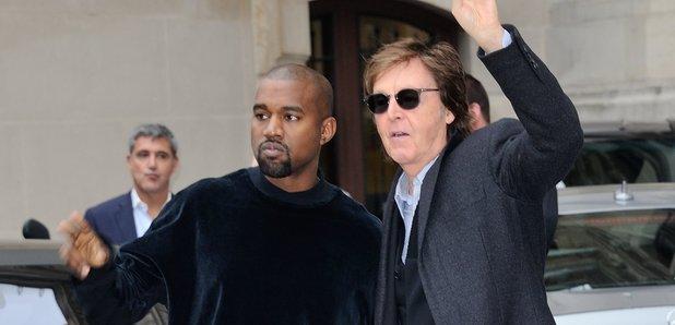 Paul McCartney and Kanye West 2015