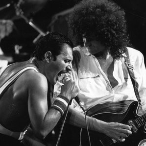 Queen Freddie Mercury and Brian May